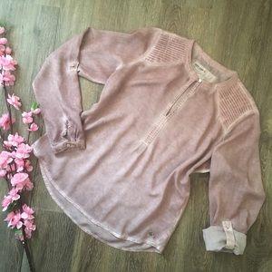 4/$20 Garcia Jeans Dusty Rose Burnout Blouse!